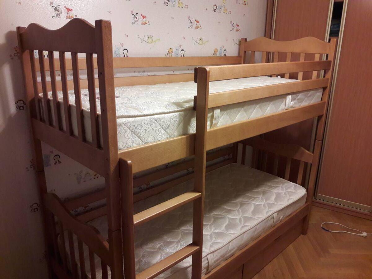 Дитяче двоярусне ліжко-трансформер.бук(масив). нове. доставка