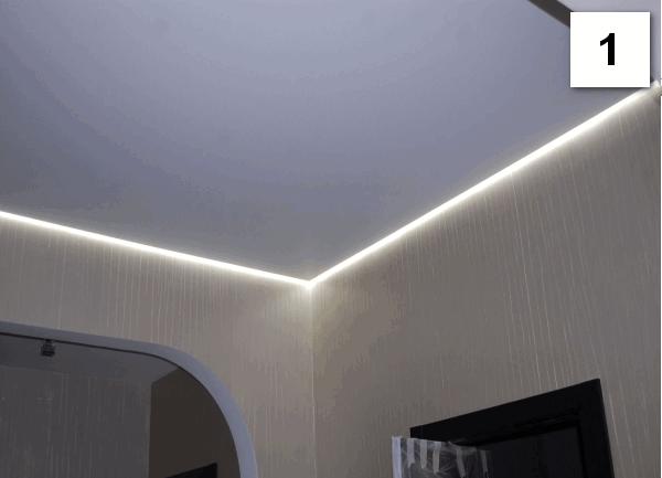 10 видів натятяжних стель у білому кольорі