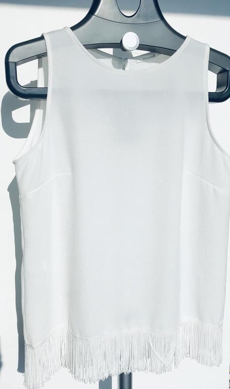 Белая блуза с коротким рукавом Promod