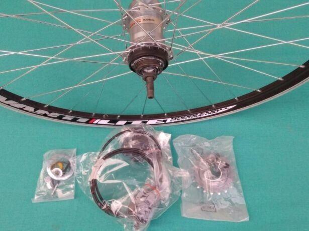 Вело колёса 20 24 26 28 двойной обод заднее втулка планетарная - Shima