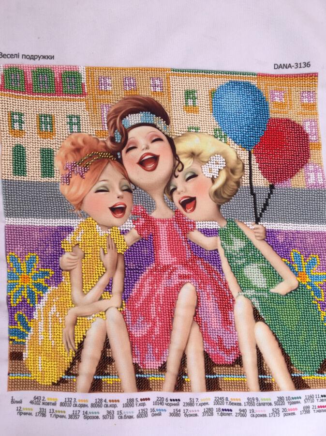 Картина бисером веселые подружки