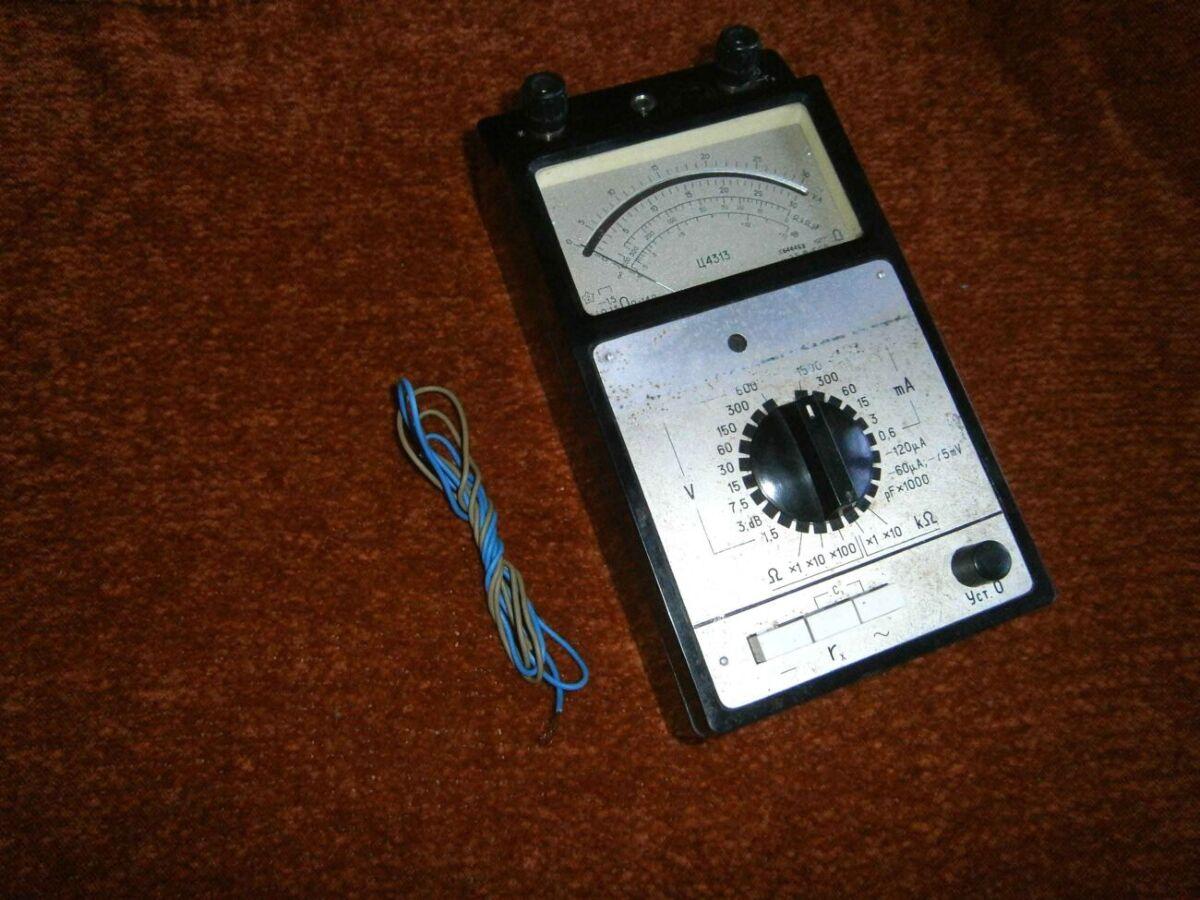 Тестер. прибор стрелочный ц4313 + провода для щупов