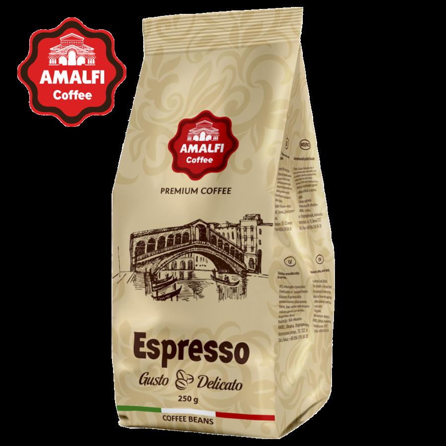 Кофе в зернах Amalfi Gusto Delicato ( 50 % арабика / 50 % робуста)