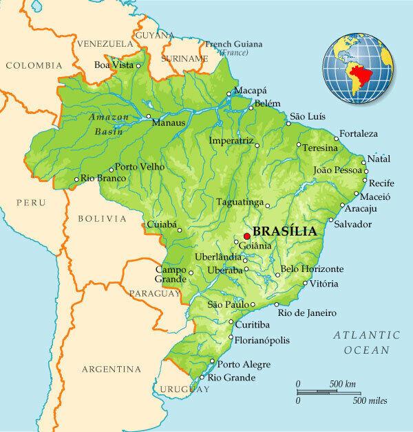 бразилия на карте мира фото мазарини