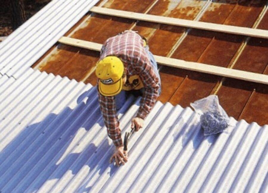 Шиферная крыша ремонт/замена шифера/шиферины