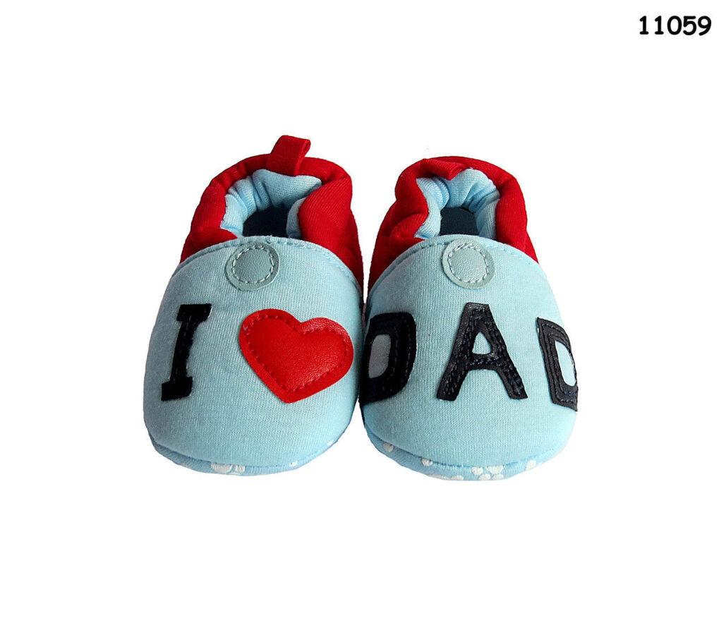 Пинетки-тапочки I Love Dad, I Love Mom для малыша