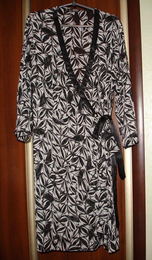 """Платье/плаття/сукня-халат 46-48 р., """"на запах"""", рукав 3/4, ефектне"""