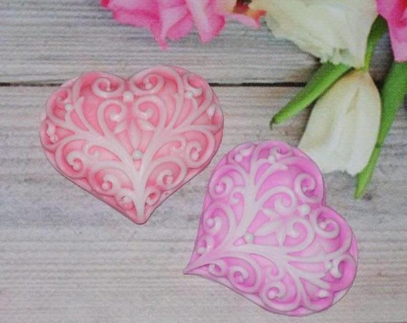 Сувенирное мыло сердечко, бонбоньерки