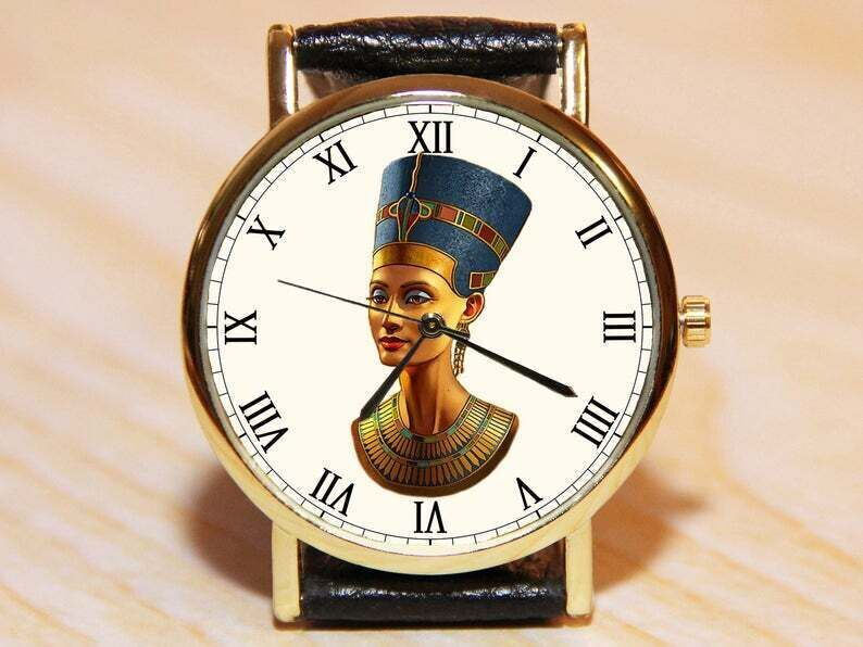 Часы нефертити, египетские часы, часы сувенир, женские часы