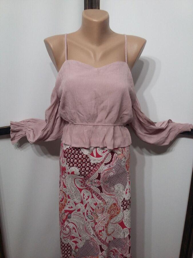Блуза блузка с открытыми плечами Prettylittlething на бретелях в стиле