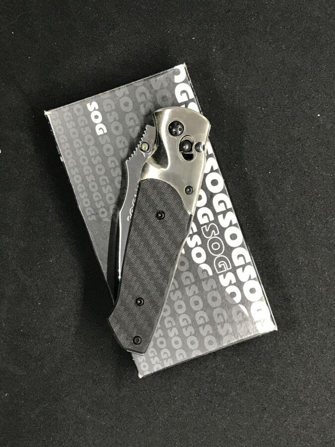 Продам складный нож Sog Arcitech Carbon Fiber San Mai Vg-10 - новый!