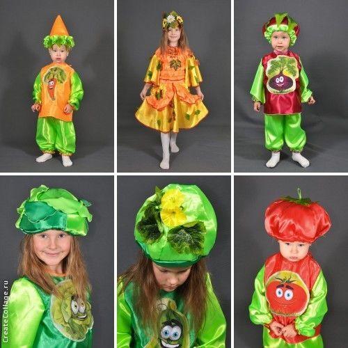 костюмы овощей и фруктов, украинские костюмы