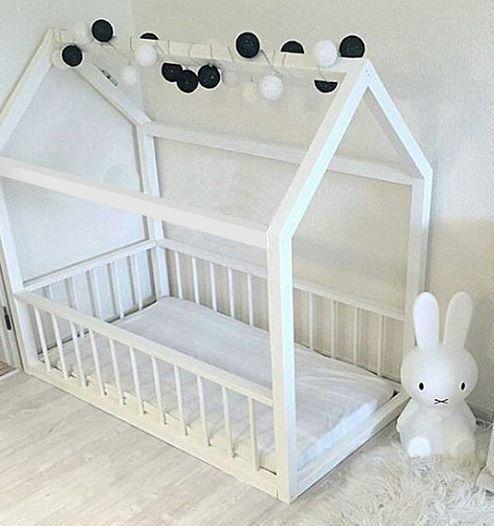 Детская кровать, кровать-домик, деревянная, мебель в детскую