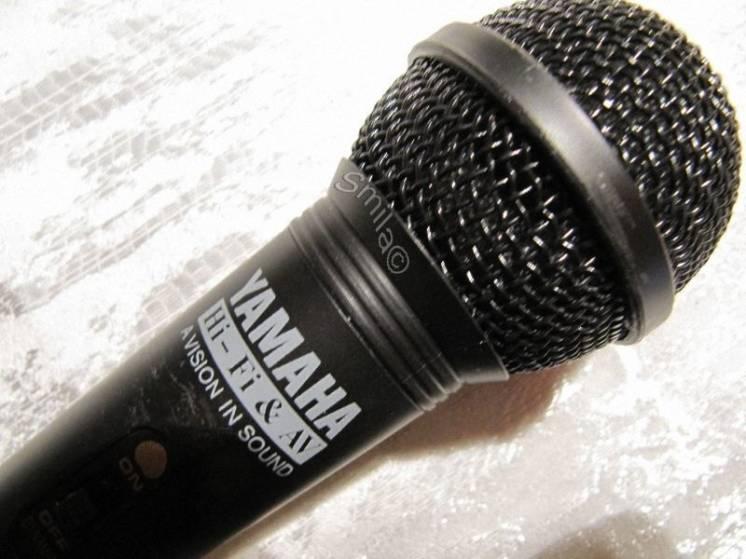 Динамический микрофон Yamaha с кардиоидной характеристикой,новый