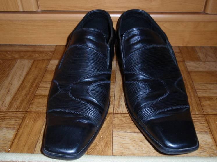 Продам кожаные мужские туфли (состояние новых)