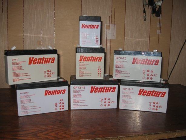 Аккумулятор Ventura 6V/12В 4-7-9-12Ач до эхолота, ИБП электромобиля.