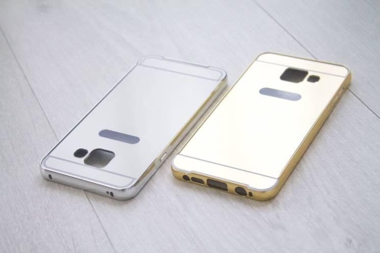 Samsung Galaxy A3 (A310f - 2016 г.в.) бампер чехол алюминий + зеркало