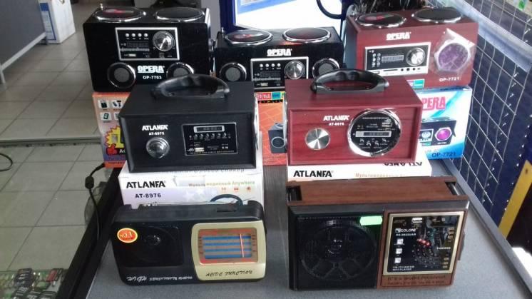 Продам радиоприемники с USB, блютуз в асортименте