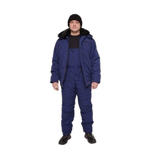 Куртка утепленная с меховым воротником Еврозима