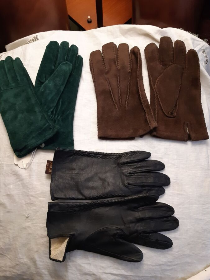 перчатки мужские и женские 100% кожа (зима)