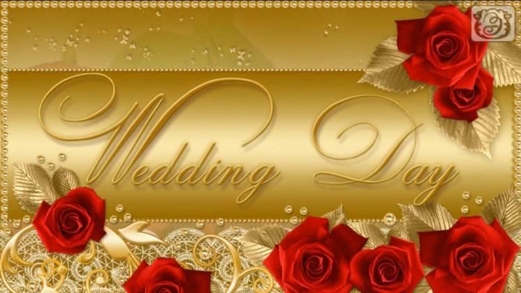 Музыкальное, свадебное слайд-шоу «wedding Day»