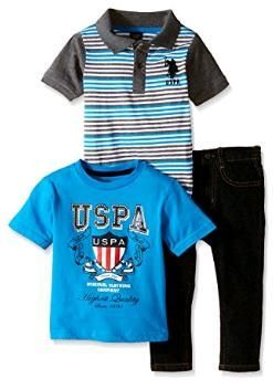 U.s. Polo Assn. 3 в 1: джинсы и 2 футболки (сша) 4 и 5 лет