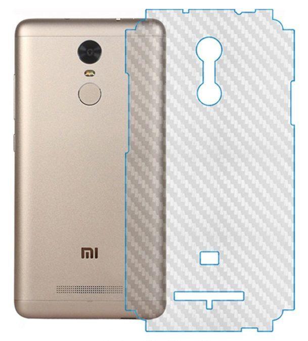 Пленка защитная (карбон) на заднюю панель смартфона Xiaomi, MEIZU, HTC