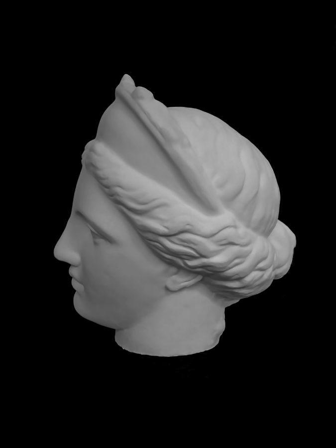 Голова гипсовая венера капуа (в кокошнике)