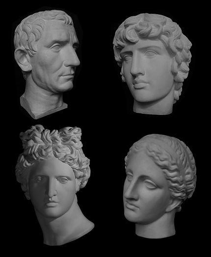 Академические гипсовые бюсты и головы (венера, аполлон, август и др.)