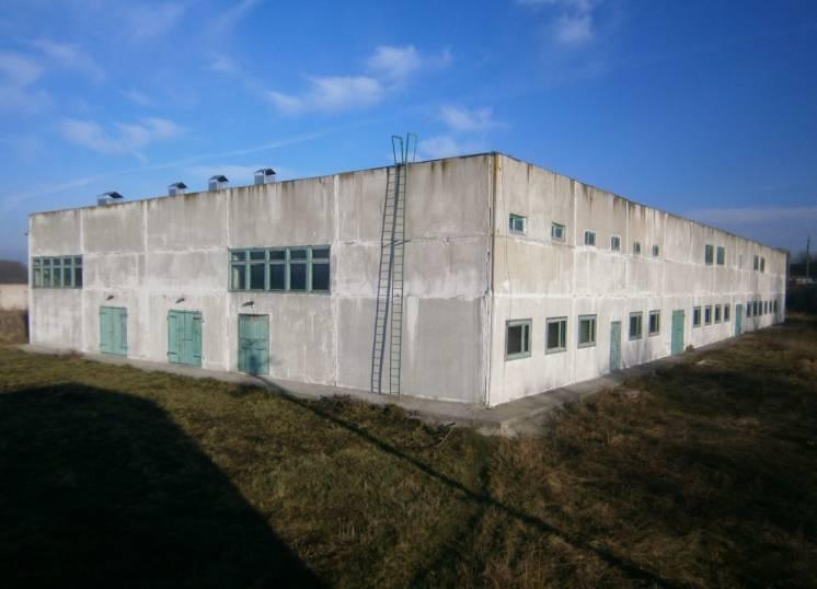 Склад овощехранилище 2722 м2 участок 1.55 Га г. Винница 800 кВт