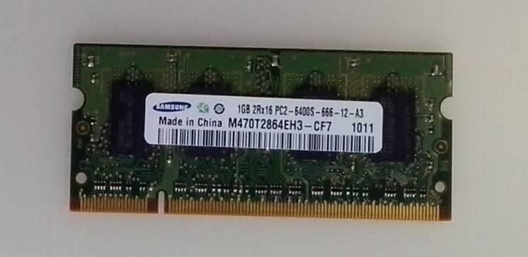 Оперативная память 1Gb samsung PC2-6400 sodimm