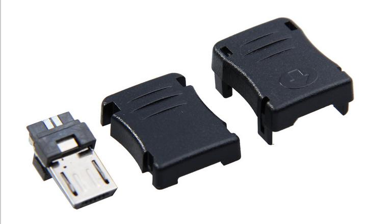 Штекер Micro USB разборной, под пайку