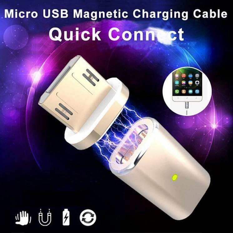 Магнитный переходник, магнинтый кабель с наконечником micro USB