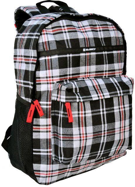 Легкий молодежный рюкзак в клетку 18 л Paso 14-016B серый