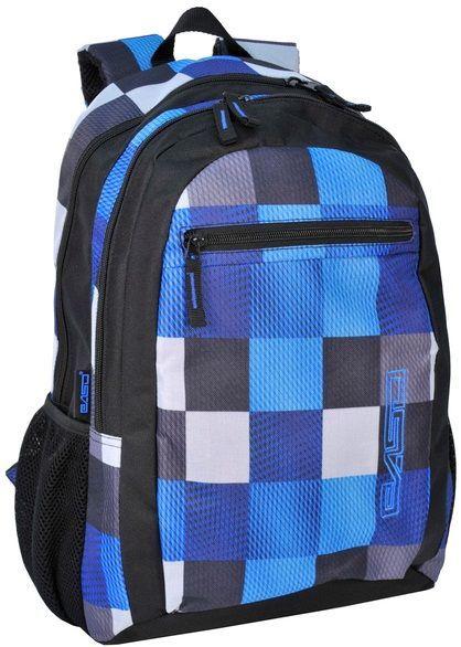 Молодежный городской рюкзак в клетку PASO 22L, 14-616B синий
