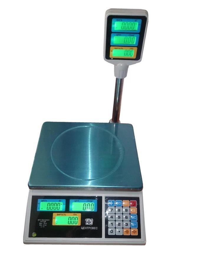 Электронные весы торговые ВТЕ-15Т2-ДВ-(ЖК)
