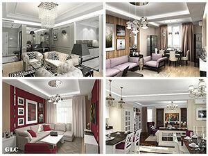 Дизайн интерьеров квартир , домов, ремонт, подбор материалов.