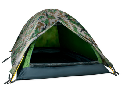 Палатка 2-х местная камуфляжная с аллюминевыми дугами (новая)