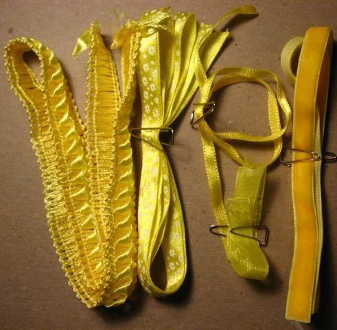 лента тесьма жёлтая отделочная декоративная