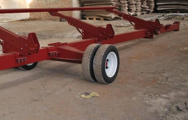Одноосная тележка для зерновых жаток от 6 до 9 метров