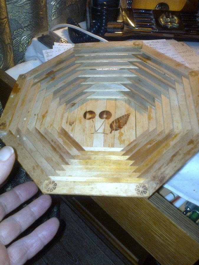 Конфетница, хлебница деревянная