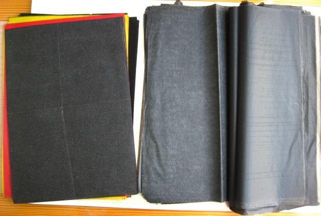 копирка копировальная бумага калька, чёрная, фиолетовая, от 0.5 грн