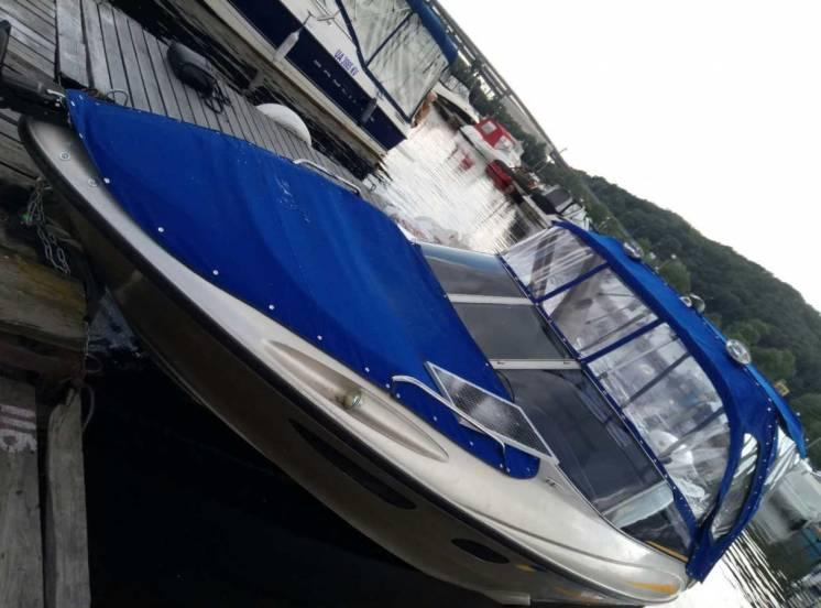 Ходовой тент на лодку, катер, яхту.