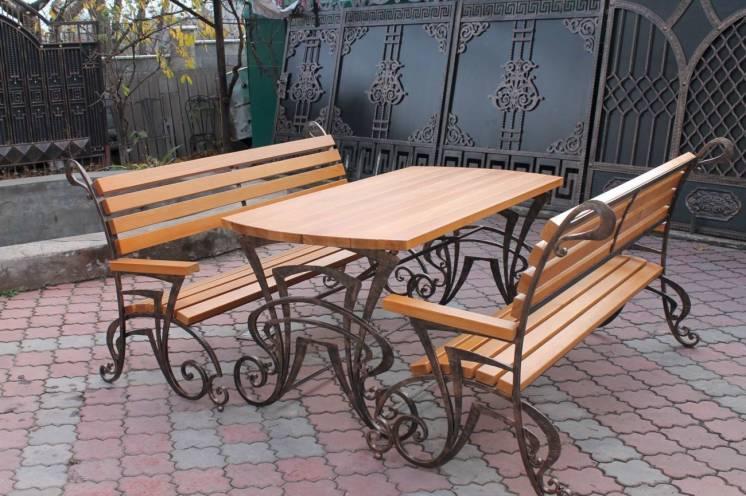 Садовая мебель: кованные столы, стулья, лавки, скамейки купить харьков