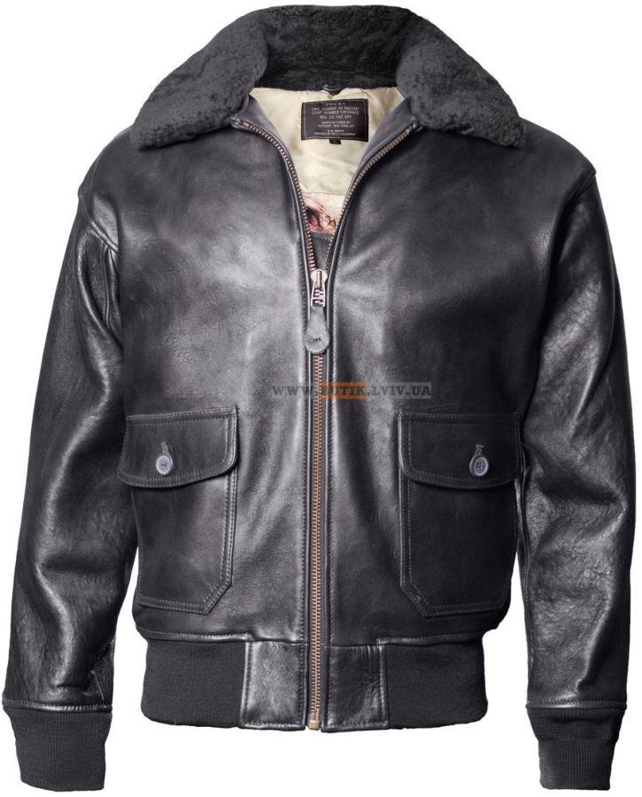 Шкіряна куртка Offical Top Gun Military G-1 Jacket (чорна)