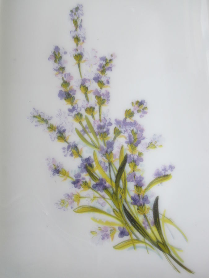 Тарелка LIMOGES d Arte France. Цветок Лаванда. Клеймо 1945 -75г. идеал