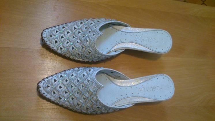 Туфли женские без задника,новые,кожа размер 37