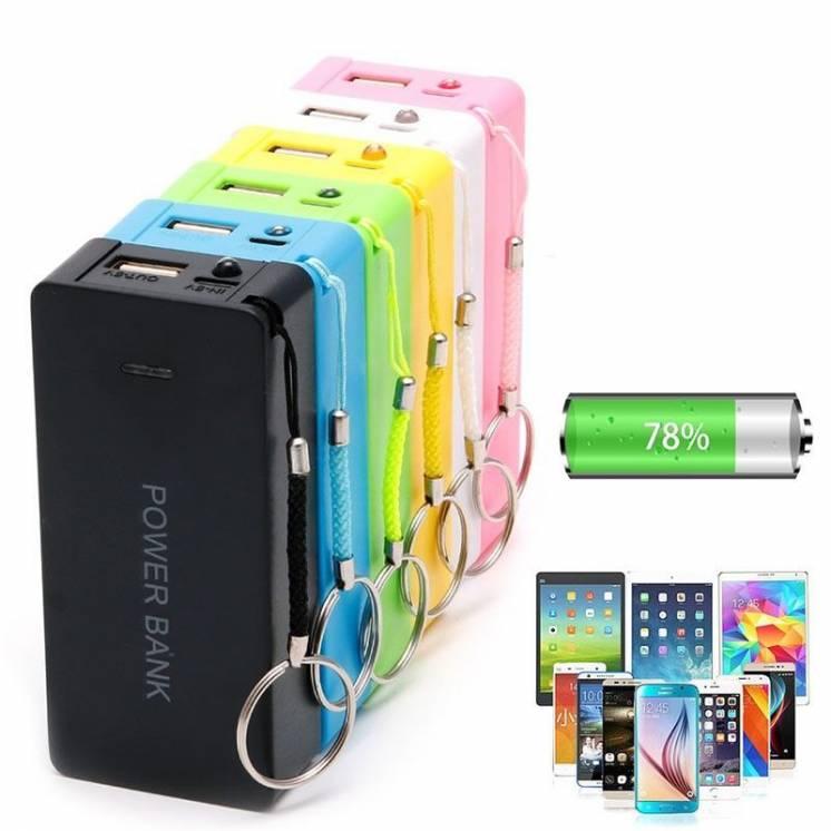 Павер банк 6000 mA/h power bank портативный аккумулятор USB, фанарик