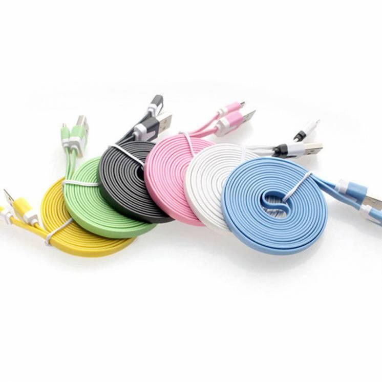 Кабели, шнуры, провода micro USB 1, 2, 3 метра 2 Ампера к смартфону