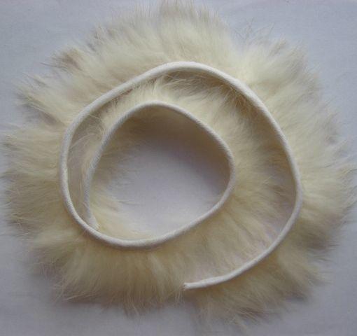 лента отделочная пух молочно белый тесьма 0.5 м